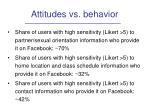 attitudes vs behavior