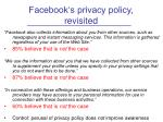 facebook s privacy policy revisited