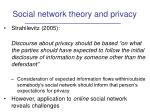 social network theory and privacy