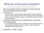 what are online social networks