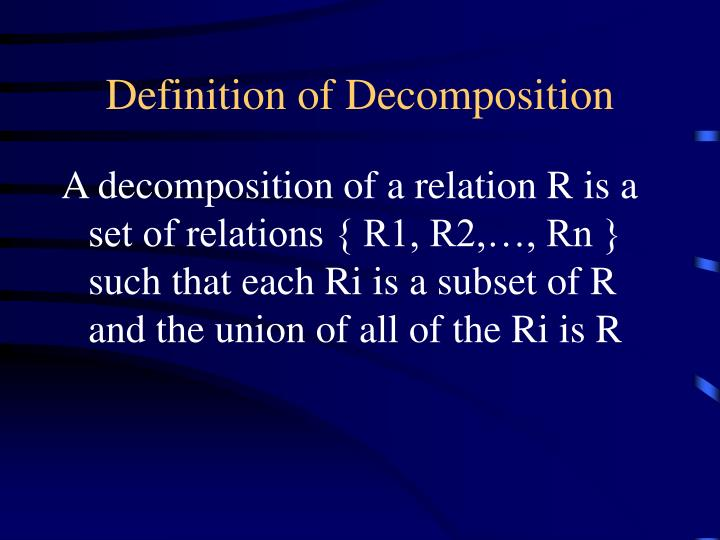 Definition of decomposition