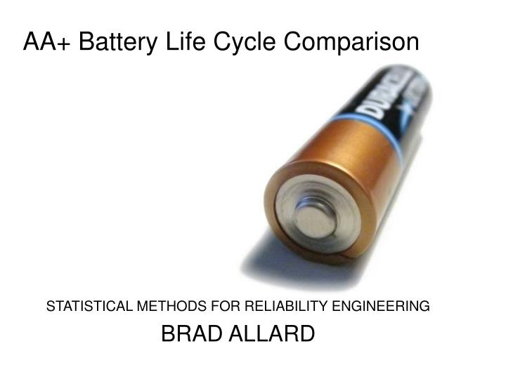 aa battery life cycle comparison n.