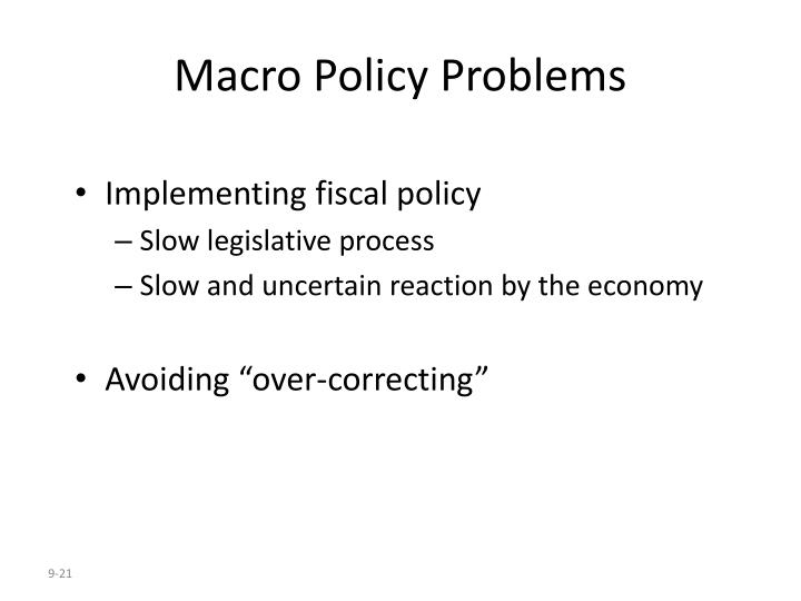 Macro Policy Problems