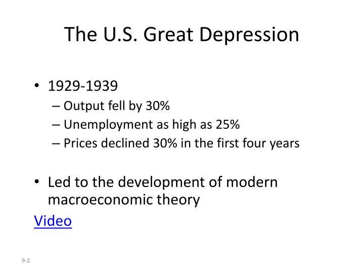 The u s great depression