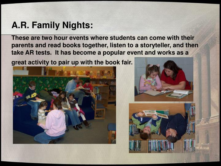 A.R. Family Nights: