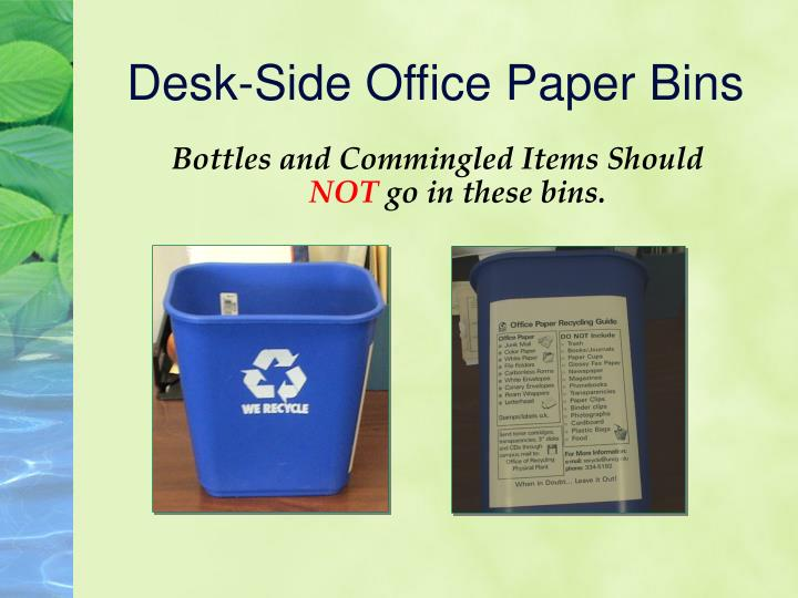 Desk-Side Office Paper Bins