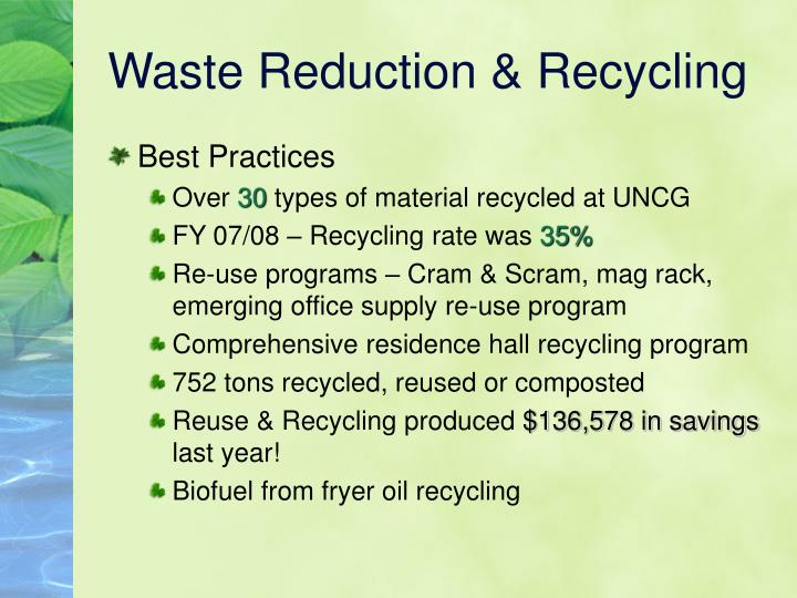 Waste Reduction & Recycling