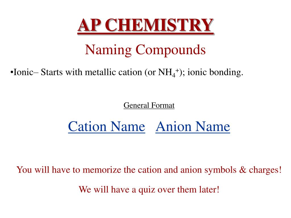 PPT - AP CHEMISTRY PowerPoint Presentation - ID:3197037