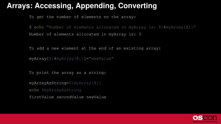 Arrays: Accessing, Appending, Converting