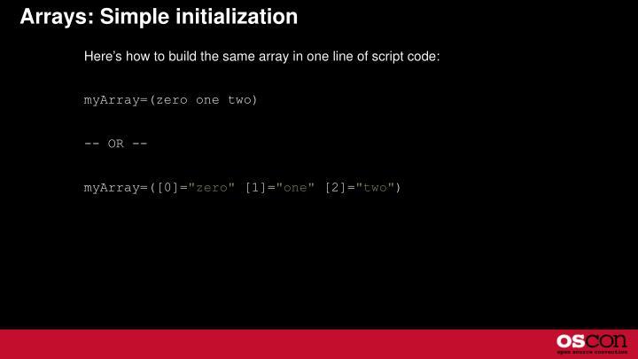 Arrays: Simple initialization