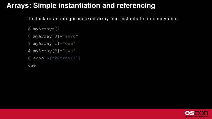 Arrays: Simple instantiation and referencing