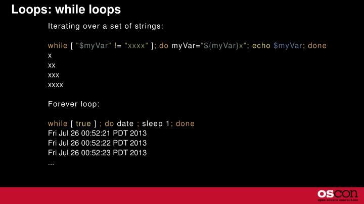 Loops: while loops