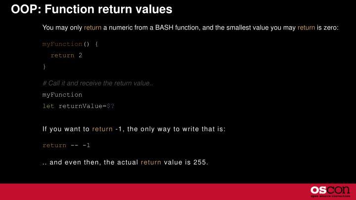 OOP: Function return values