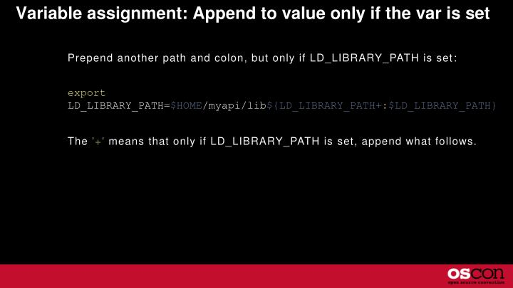 Variable assignment: Append to value only if the