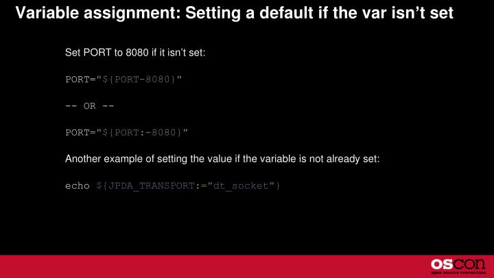 Variable assignment: Setting a default if the var isn