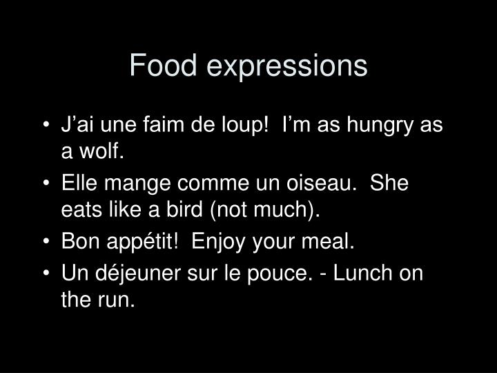 Food expressions