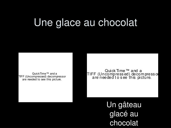 Une glace au chocolat