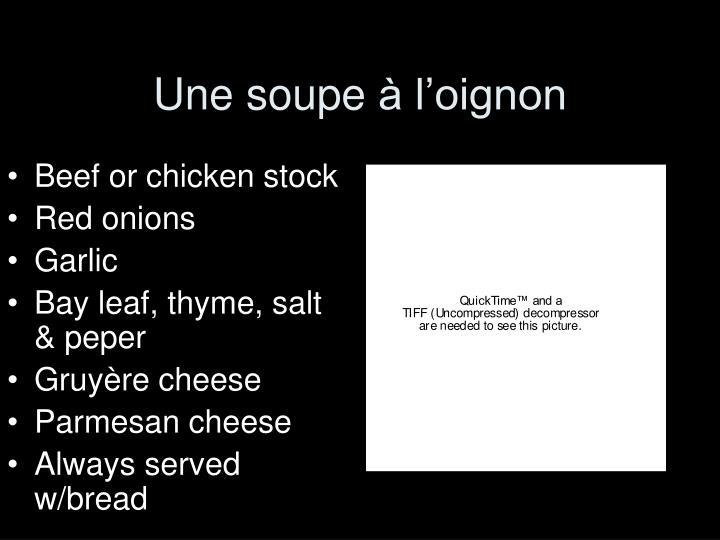 Une soupe