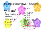 modeling with power functions