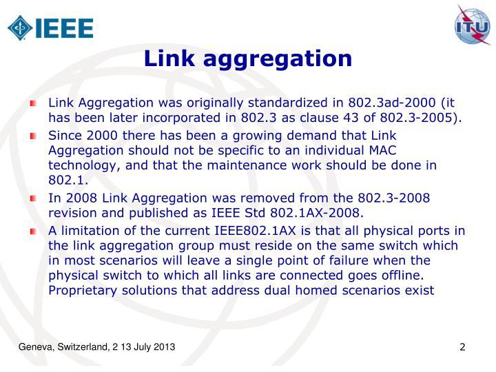 Link aggregation