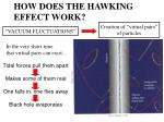how does the hawking effect work