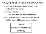 uniqueness of kerr s solution