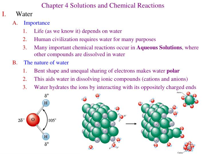 chapter 4 solutions and chemical reactions n.