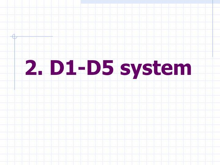 2. D1-D5 system