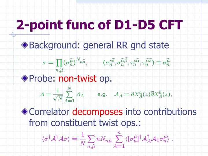 2-point func of D1-D5 CFT