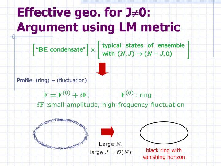 Effective geo. for J