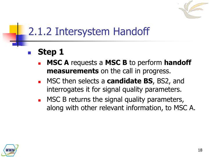 2.1.2 Intersystem Handoff