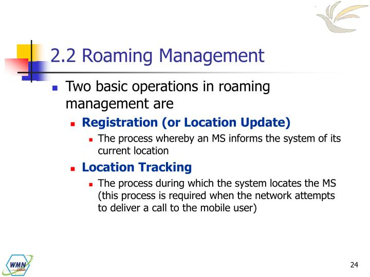 2.2 Roaming Management