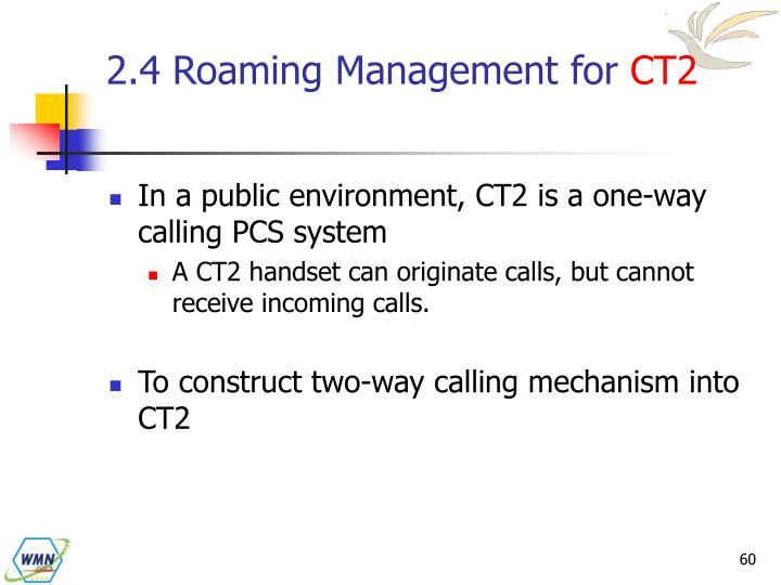 2.4 Roaming Management for