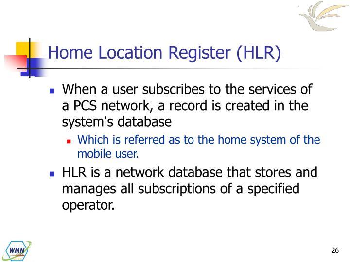 Home Location Register (HLR)