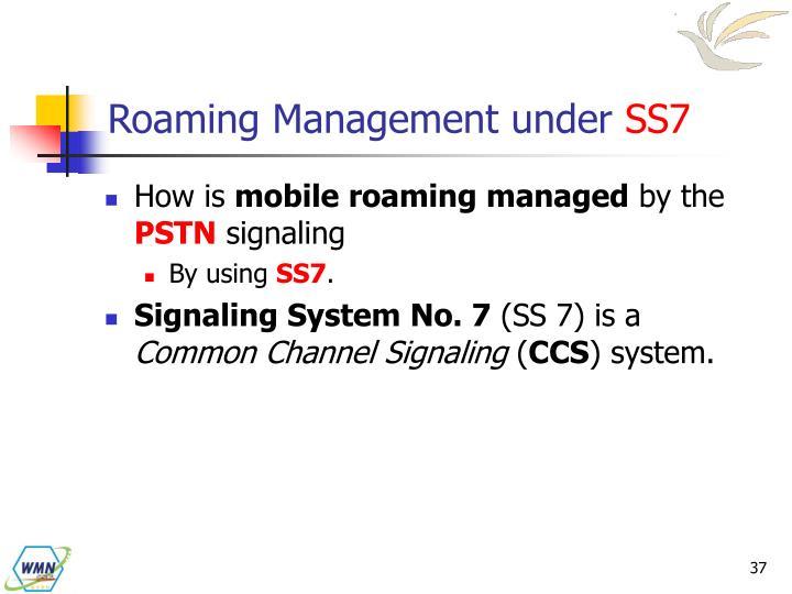 Roaming Management under