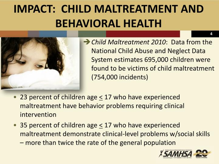IMPACT:  CHILD MALTREATMENT AND               BEHAVIORAL HEALTH