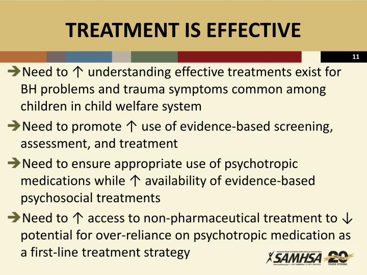 TREATMENT IS EFFECTIVE