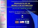 propuesta de un modelo de estimaci n