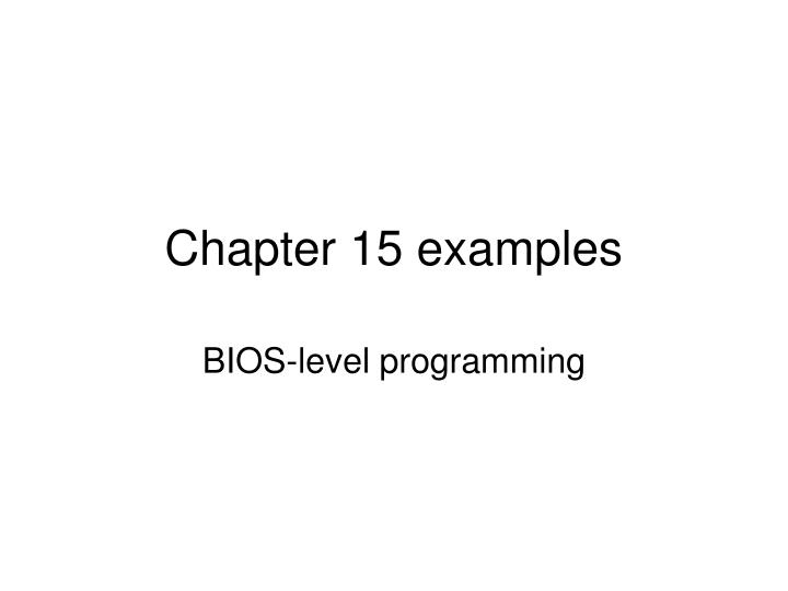 chapter 15 examples n.