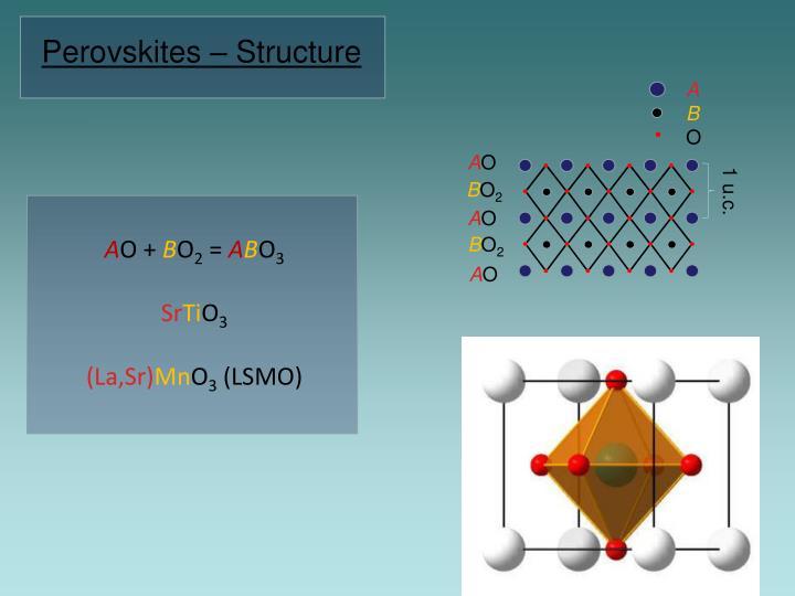 Perovskite type transition metal oxide interfaces