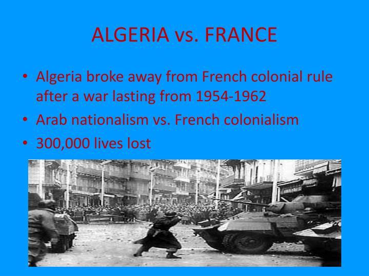 ALGERIA vs. FRANCE
