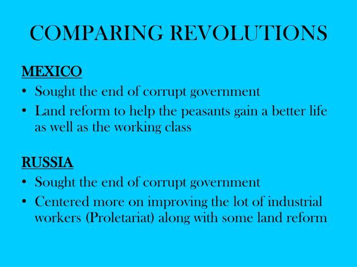 COMPARING REVOLUTIONS