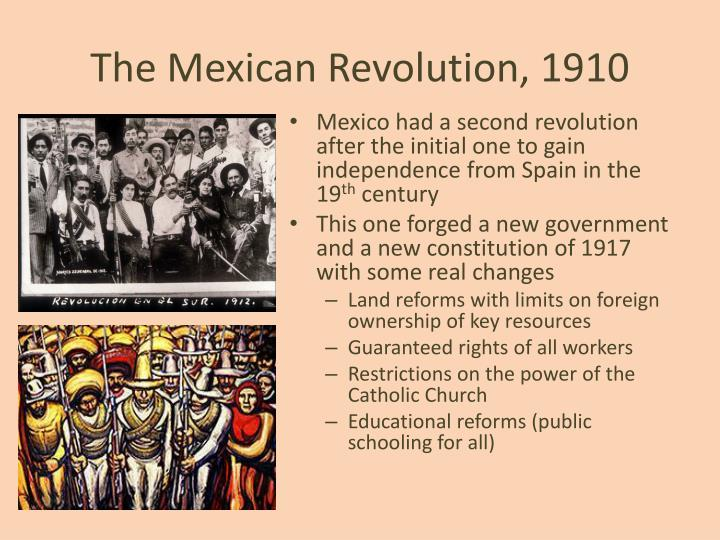 The Mexican Revolution, 1910