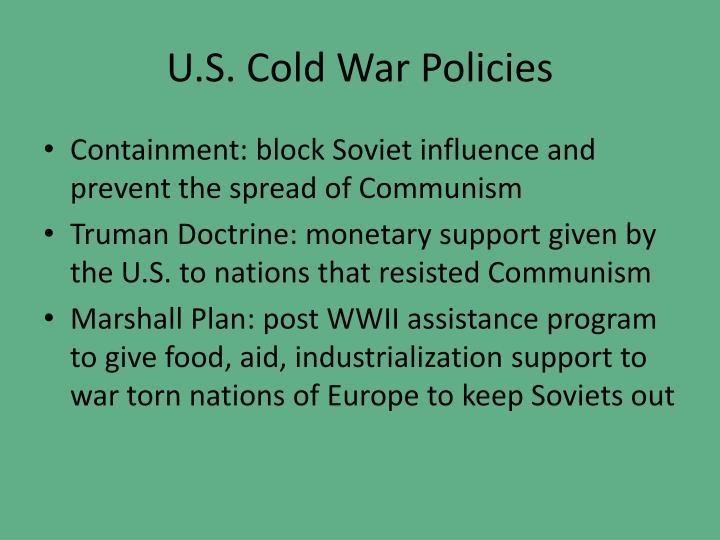 U.S. Cold War Policies