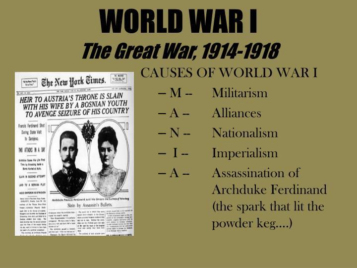 World war i the great war 1914 1918