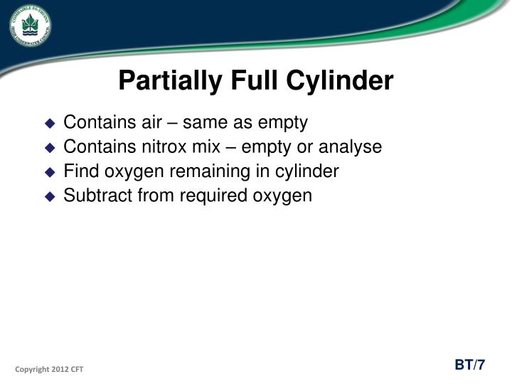 Partially Full Cylinder