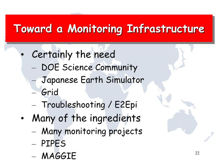Toward a Monitoring Infrastructure