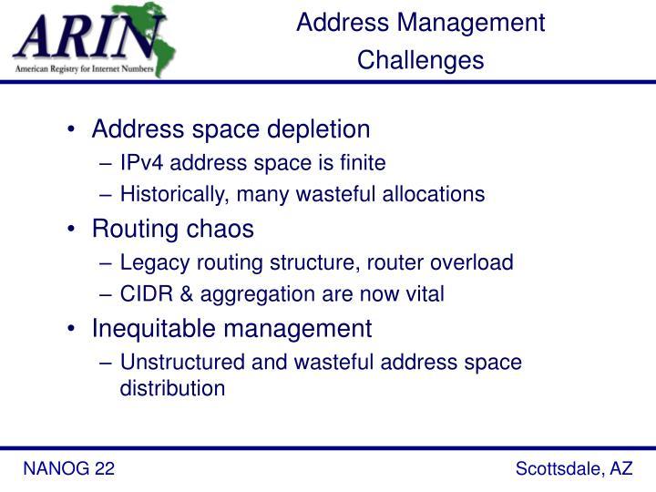 Address Management