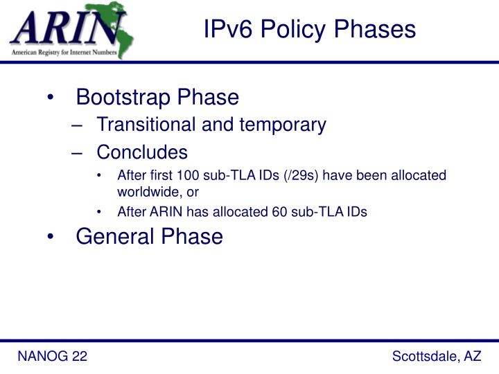 IPv6 Policy Phases