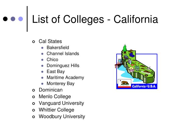 List of Colleges - California